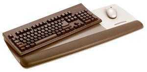 Reposamuñecas de teclado en piel negra y Superficie de precisión para ratón 3M.