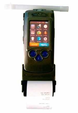 Alcoholímetro policial para pruebas evidenciales con GPS integrado
