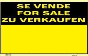Se vende for sale zu verkaufen