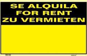 Se alquila for rent zu vermieten
