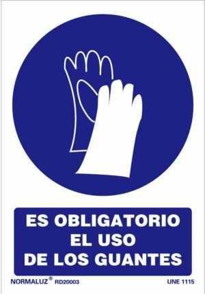 Es obligatorio el uso de guantes