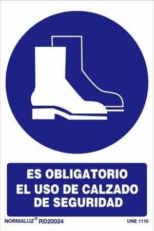 Es obligatorio el uso de calzado de seguridad