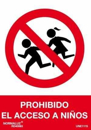 Prohibido el acceso a niños