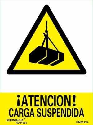 ¡Atención! carga suspendida