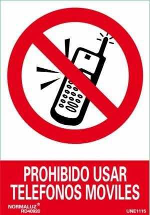 Prohibido usar teléfonos móviles
