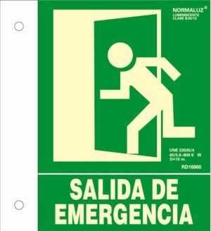 Salida de emergencia banderola