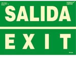 Salida exit