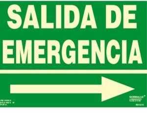 "Salida de emergencia flecha ""derecha"""