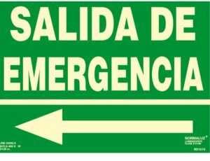 "Salida de emergencia flecha ""izquierda"""