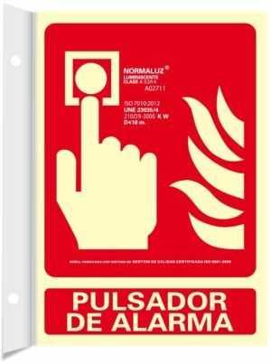 Pulsador de alarma banderola