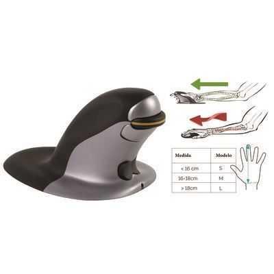 Ratón Ergonómico Vertical Ambidiestro Penguin - inalámbrico Fellowes-0