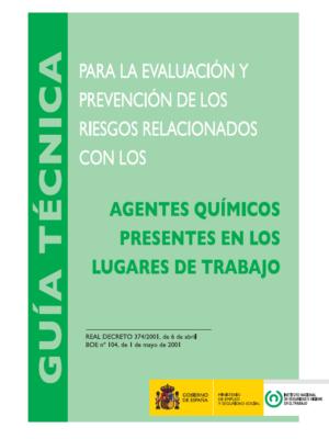 Guía técnica de los agentes químicos presentes en los lugares de trabajo del INSHT (actualizada)