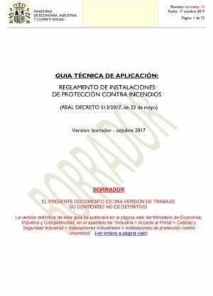 GUIA TÉCNICA DE APLICACIÓN: REGLAMENTO DE INSTALACIONES DE PROTECCIÓN CONTRA INCENDIOS – Borrador
