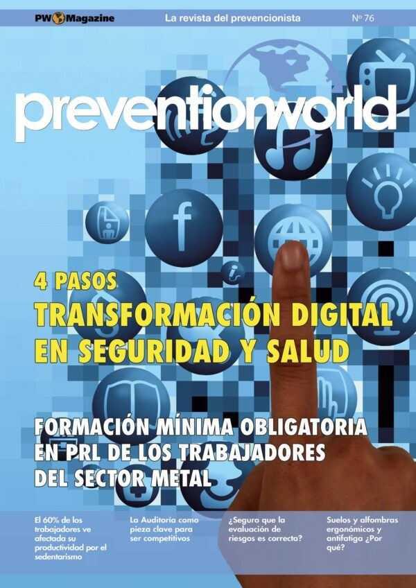 Imagen del archivo descargable sobre Prevención de Riesgos Laborales: Revista Prevention World Magazine en PDF. Número 76