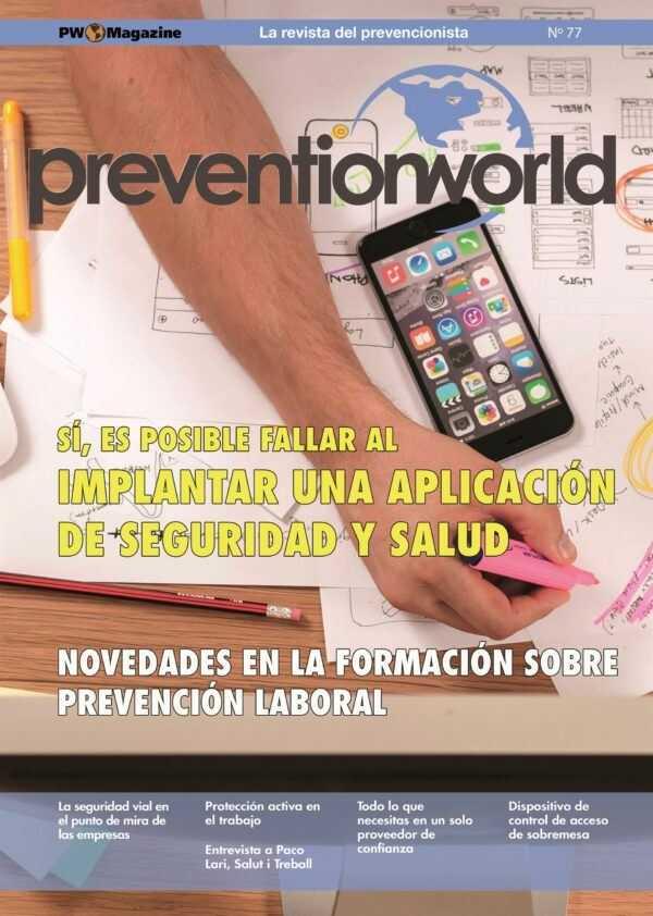 Imagen del archivo descargable sobre Prevención de Riesgos Laborales: Revista Prevention World Magazine en PDF. Número 77