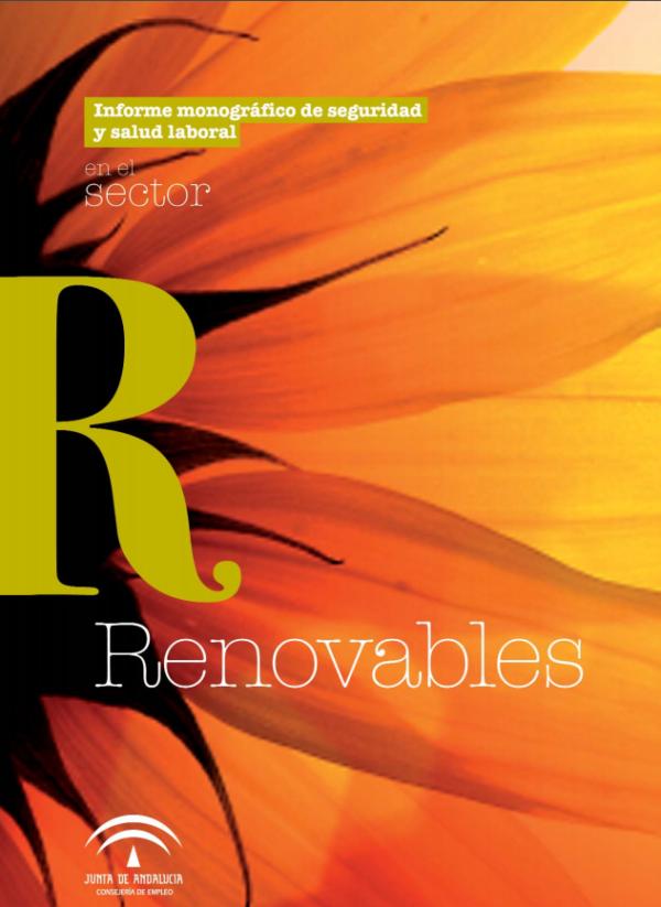 Imagen del archivo descargable sobre Prevención de Riesgos Laborales: [Desgarga] Informe monográfico de seguridad y salud laboral en el sector energías renovables