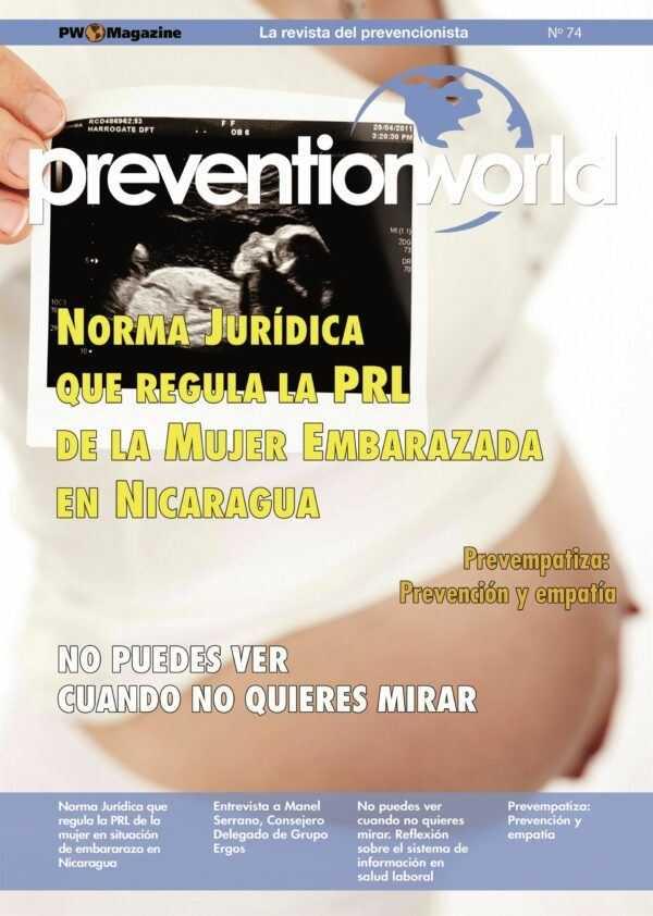Imagen del archivo descargable sobre Prevención de Riesgos Laborales: Revista Prevention World Magazine en PDF. Número 74