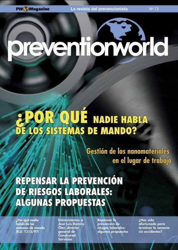 Imagen del archivo descargable sobre Prevención de Riesgos Laborales: Revista Prevention World Magazine en PDF. Número 73