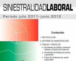 Informe de Siniestralidad Laboral período julio 2011- junio 2012